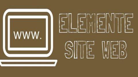 Elementele de baza ale unui site web