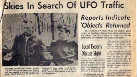 OZN observat, explicat ca fiind un balon de cercetare in Westfall, 1966